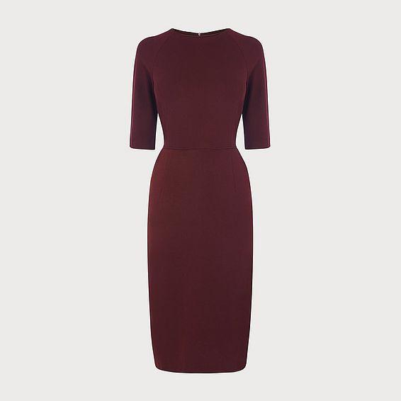 Liya Burgundy Jersey Dress