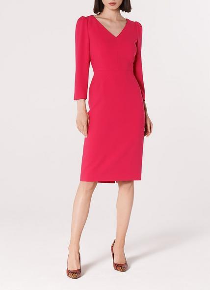 Mai Pink V Neck Dress