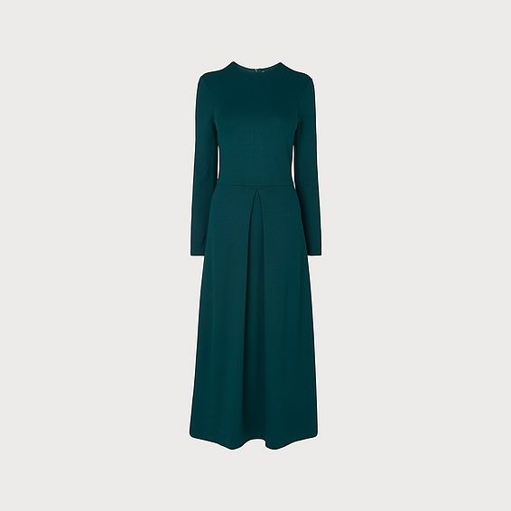 Maria Green Flared Dress