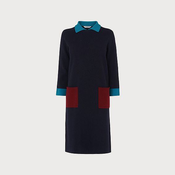 Melanie Colour-Block Knitted Dress