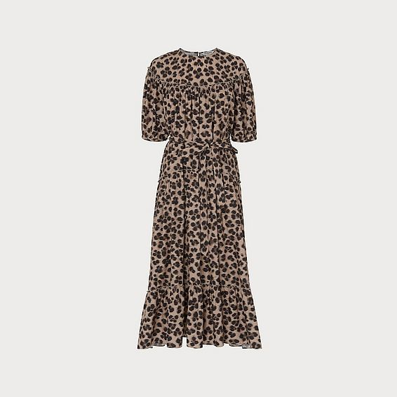 Rego Leopard Print Cotton Dress
