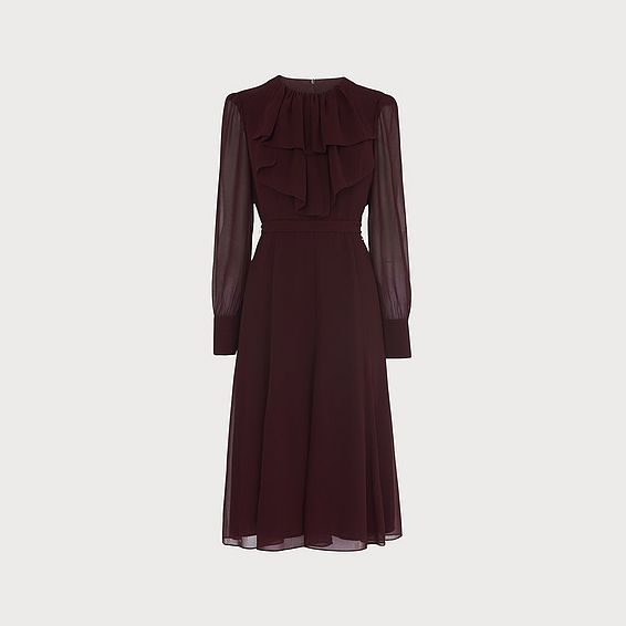 Roque Aubergine Chiffon Dress