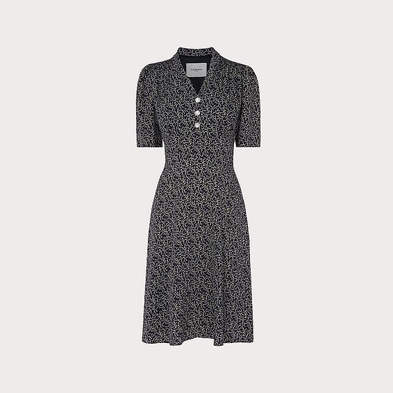 Zazou Cloud Print Tea Dress