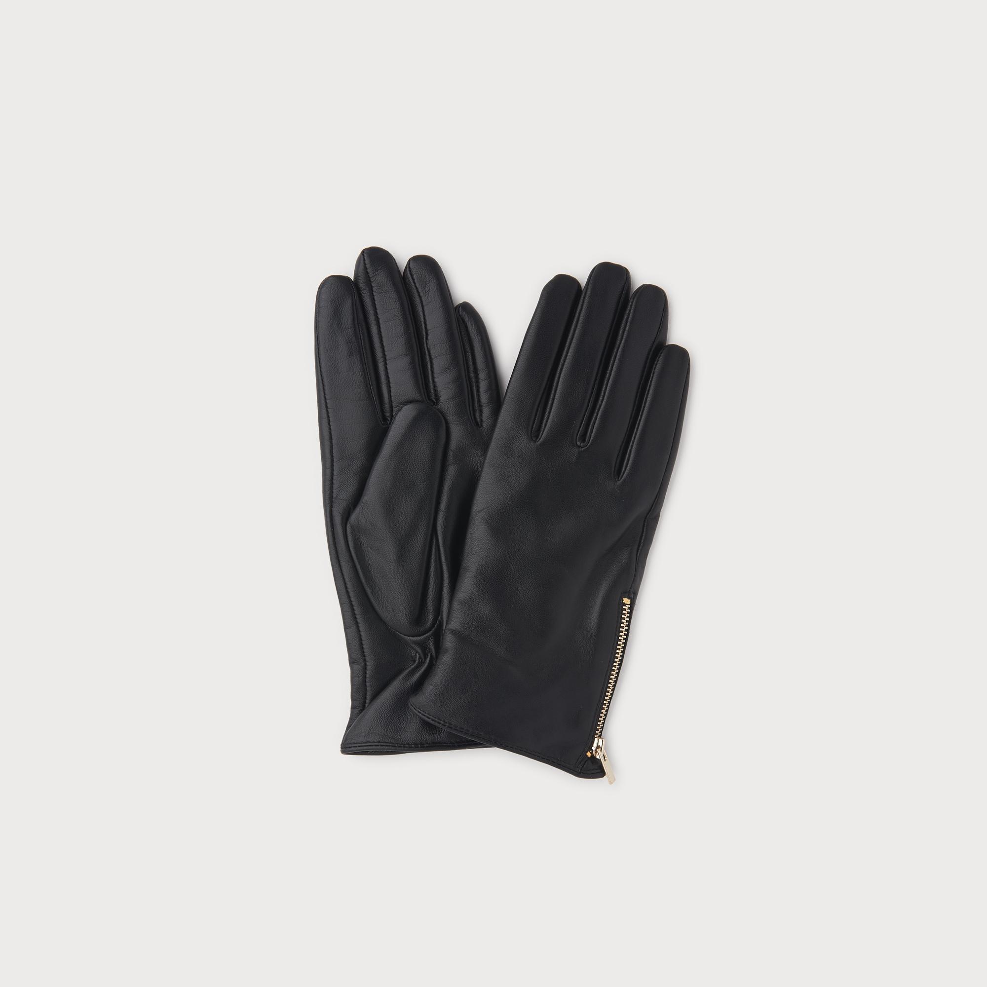 Kiera Black Leather Gloves by L.K.Bennett