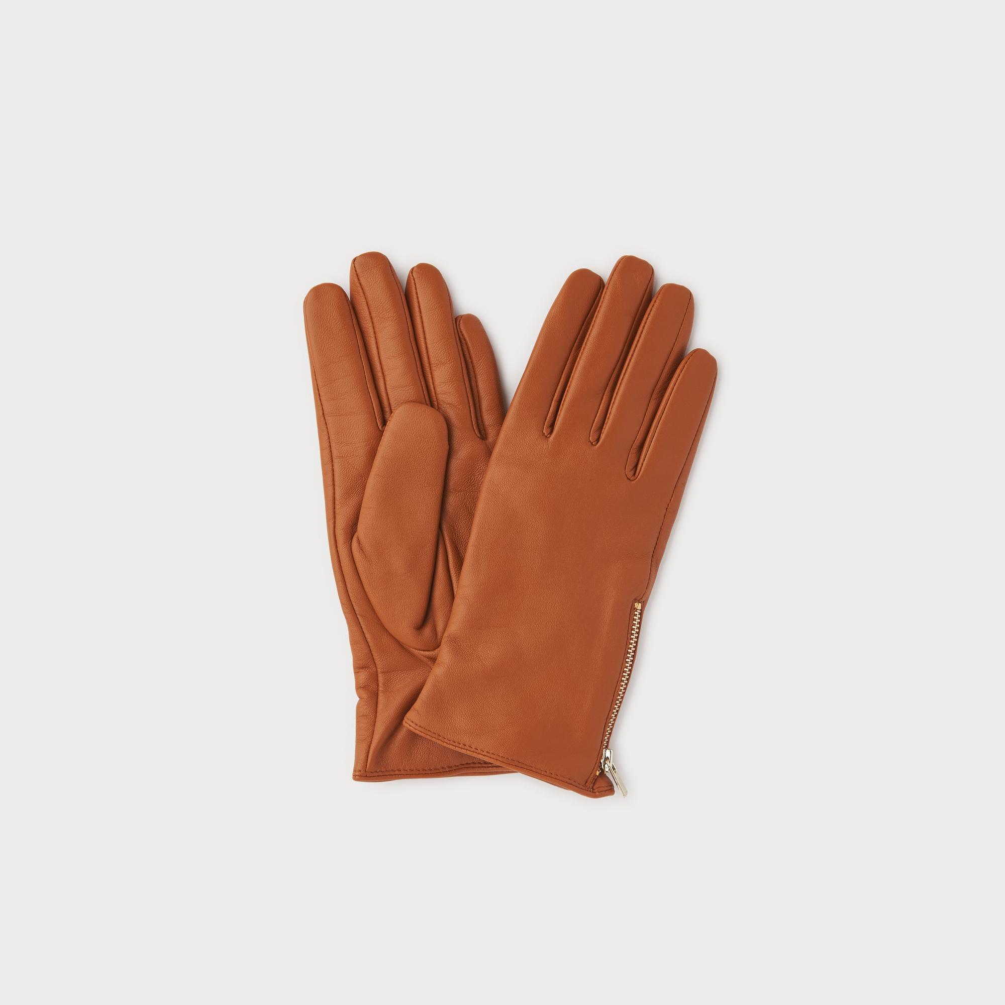 Kiera Tan Leather Gloves by L.K.Bennett