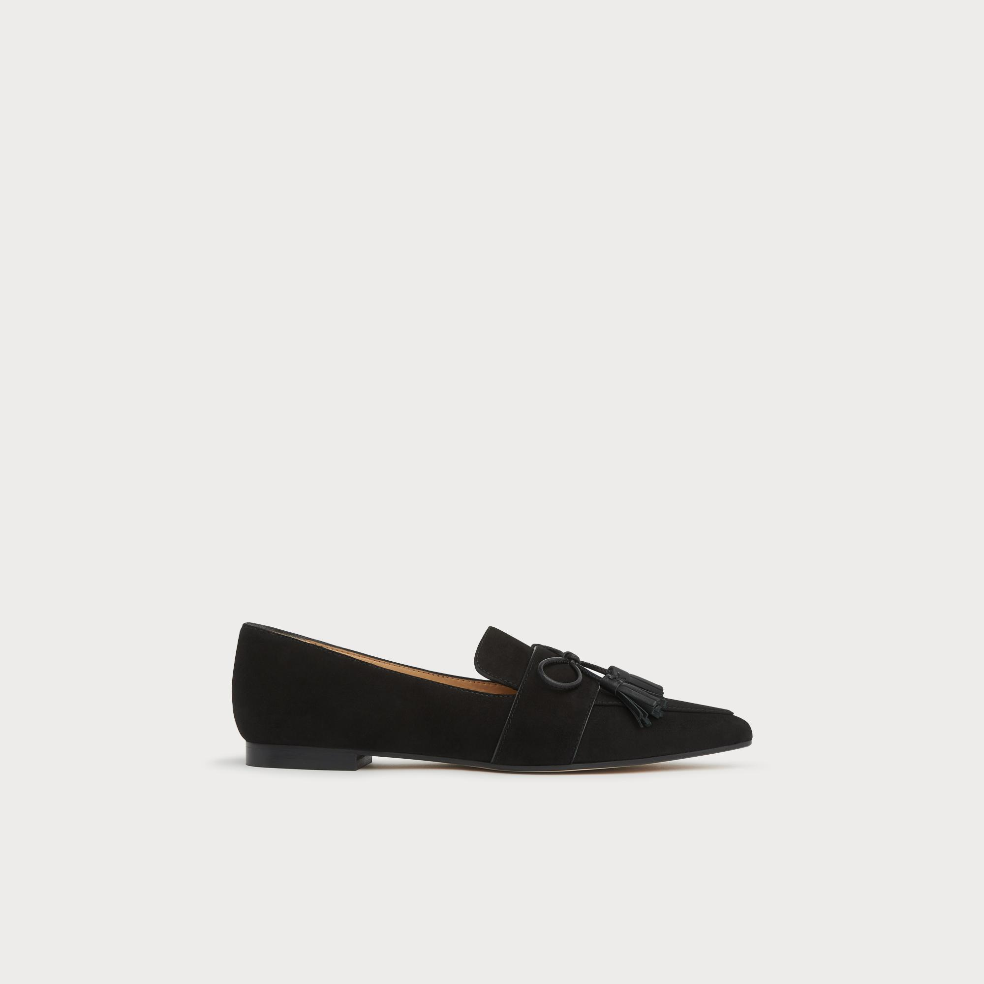 0cce0fa2f Celina Black Suede Tassel Loafers | Shoes | L.K.Bennett