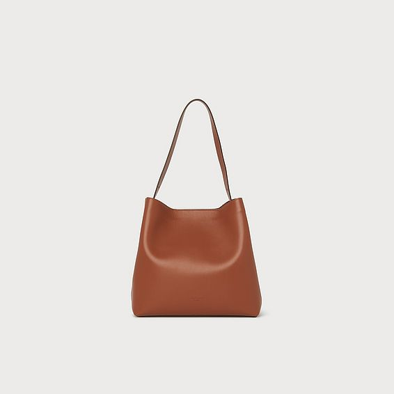Helena Tan Leather Tote Bag