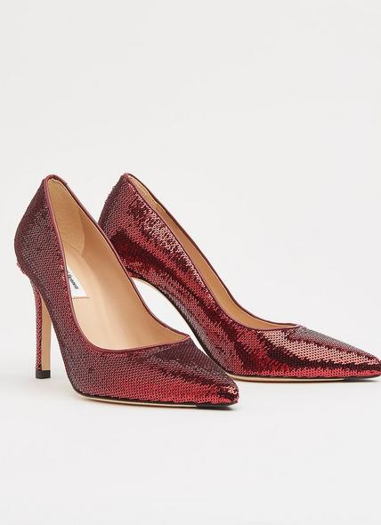Fern Burgundy Sequin Pointed Toe Courts