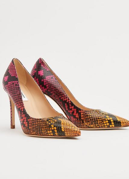 Fern Snake Print Pointed Toe Courts