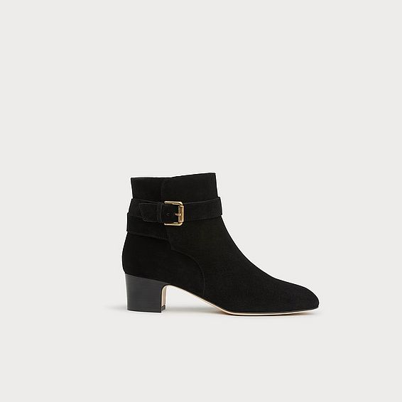 Jerrie Black Suede Ankle Boots