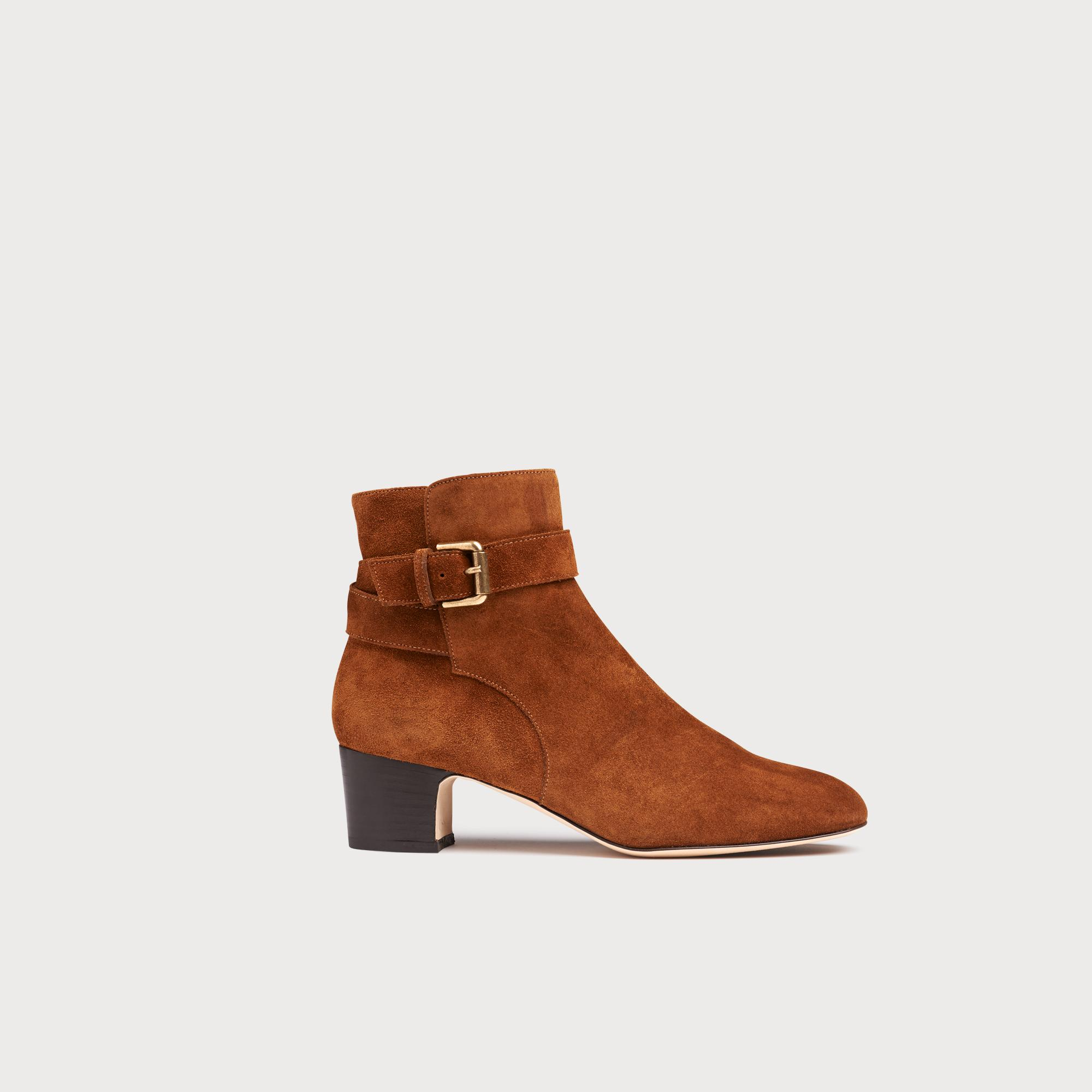 6ec536c757f63 Jerrie Caramel Suede Ankle Boots