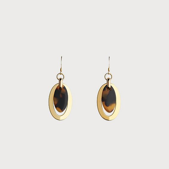 Jessica Tortoise Shell Circular Twist Earrings
