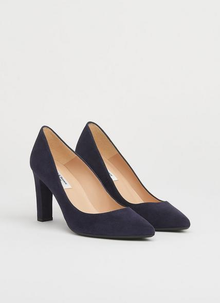 Tess Navy Suede Courts