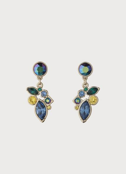 Petra Swarovski Emerald Crystal Drop Earrings
