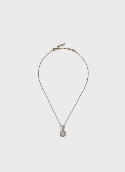 Eevee Swarovski Gold Crystal & Pearl Necklace