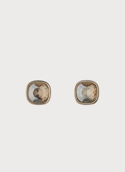 Michelle Swarovski Gold Crystal Earrings