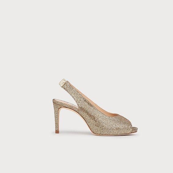 Nicole Gold Lurex Sandals