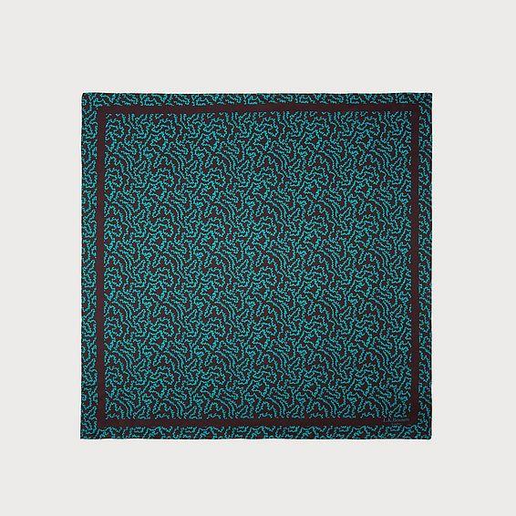Sicily Coral Print Silk Scarf
