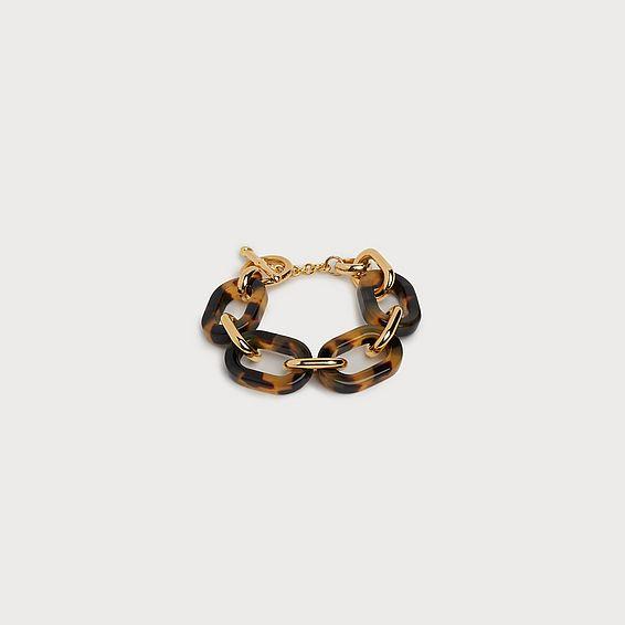 Jill Tortoiseshell Chain Link Bracelet