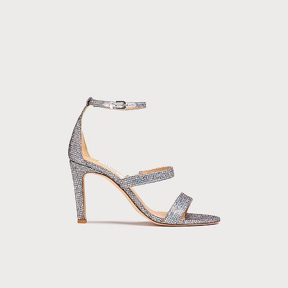 Nina Silver Lurex Sandals