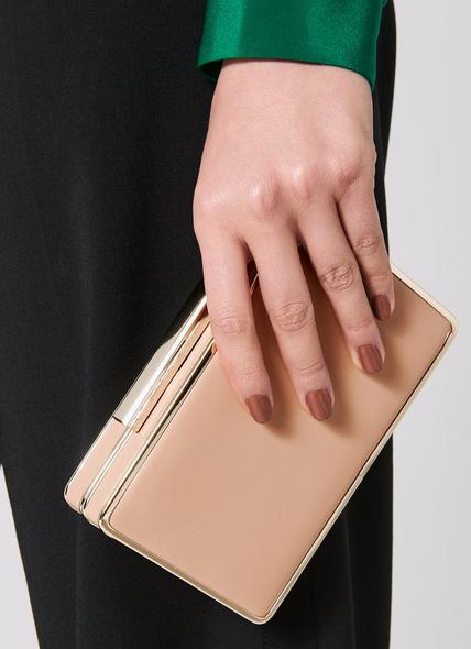 Nina Trench Leather Clutch