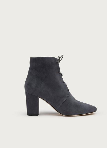Lira Smoky Grey Suede Ankle Boots