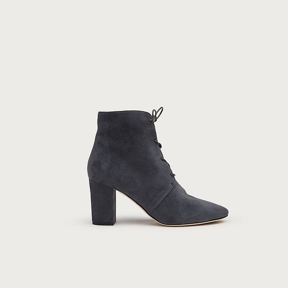 Lira Grey Suede Ankle Boots