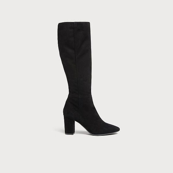 Sirena Black Suede Knee Boots