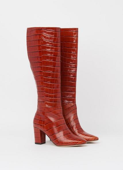 Sirena Caramel Croc Effect Knee Boots