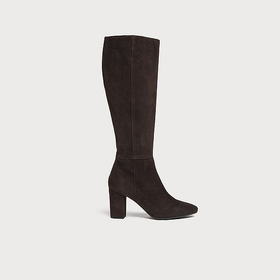 Sirena Chocolate Suede Knee Boots