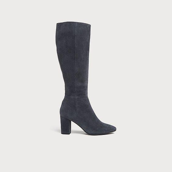 Sirena Grey Suede Knee Boots