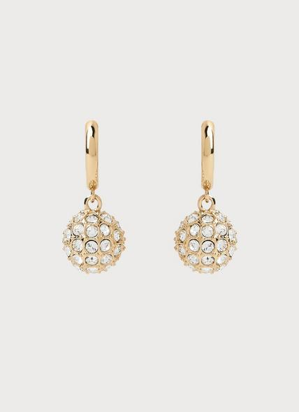 Rita Swarovski Crystal Gold-Plated Hoop Earrings