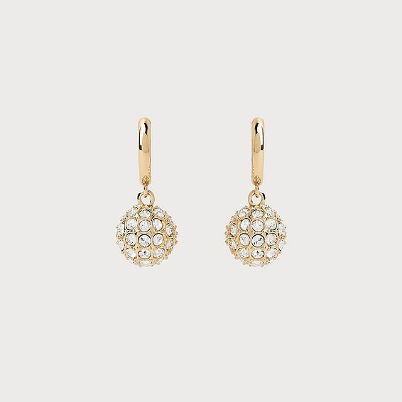 Swarovski Rita Gold Crystal Hoop Earrings