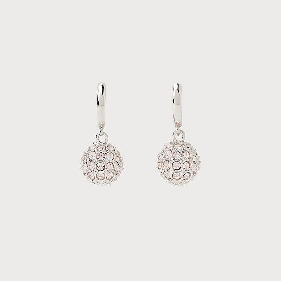 Rita Swarovski Crystal Silver-Plated Hoop Earrings