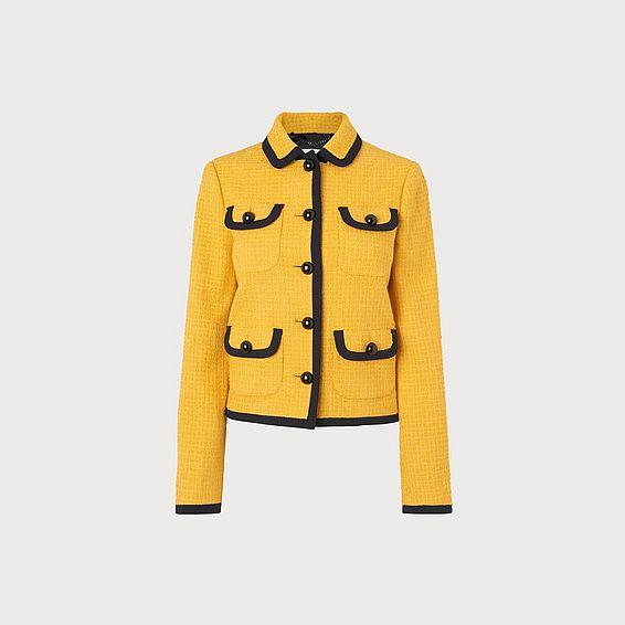 Anita Yellow Tweed Jacket
