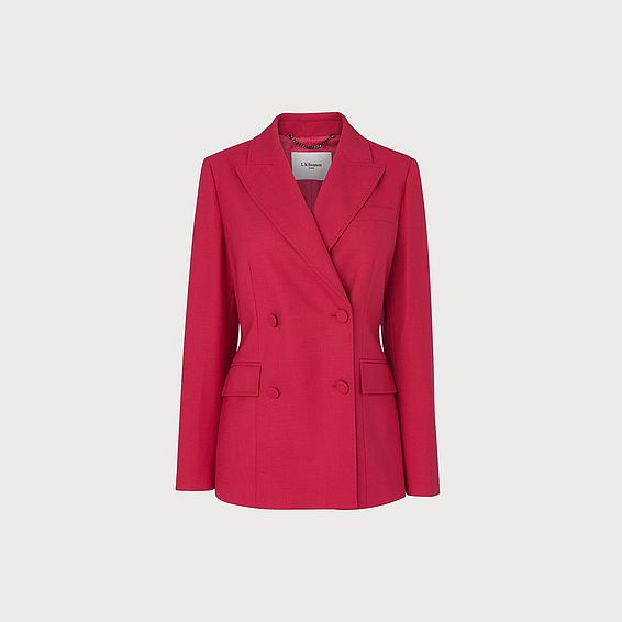 Floyd Pink Wool Blend Tailored Jacket