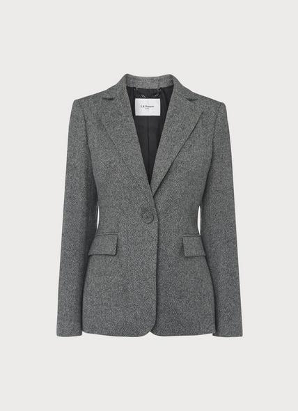 Frances Herringbone Wool Jacket