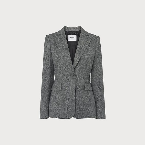 Frances Herringbone Wool Jacket