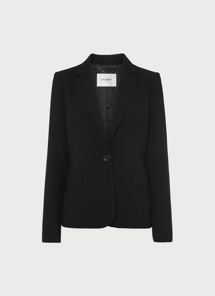 Frieda Black Crepe Jacket