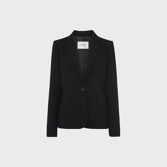 Frieda Black Crepe Jacket