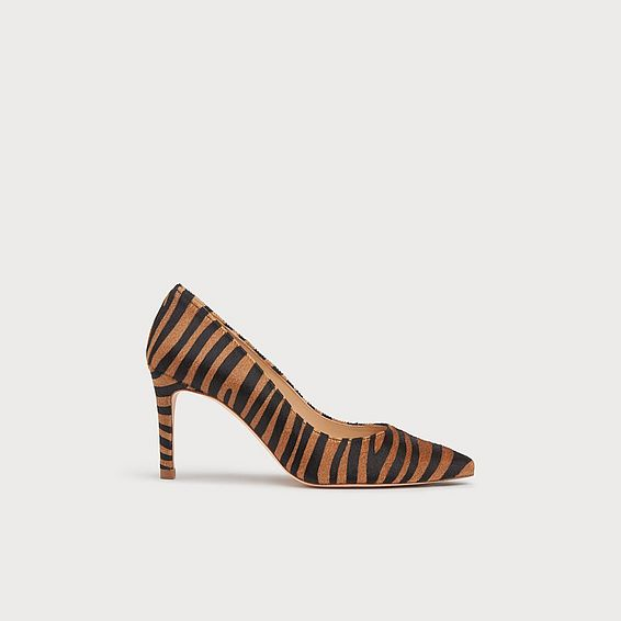 Floret Zebra Print Pointed Toe Courts