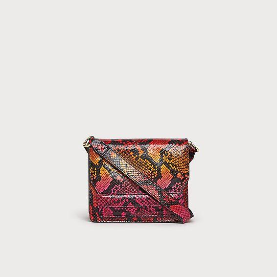 Emma Firecracker Snake Effect Shoulder Bag