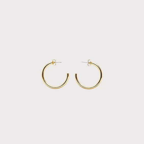 Sunne Gold-Plated Hoop Earrings