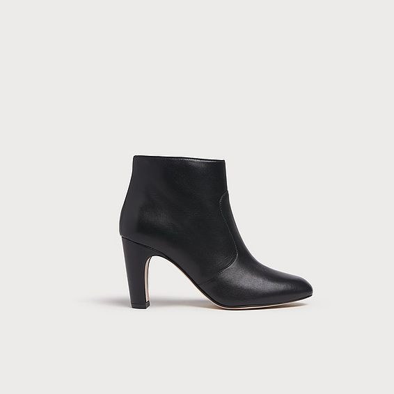 Antonia Black Leather Ankle Boots
