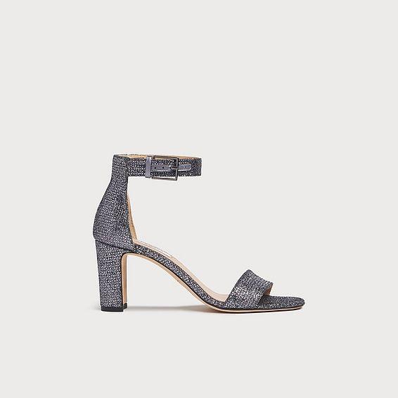Nora Silver Glitter Sandals