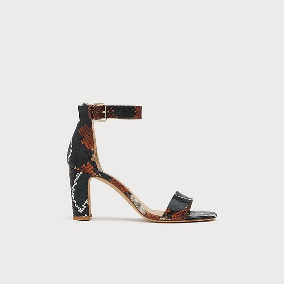 Nora Snake Print Sandals