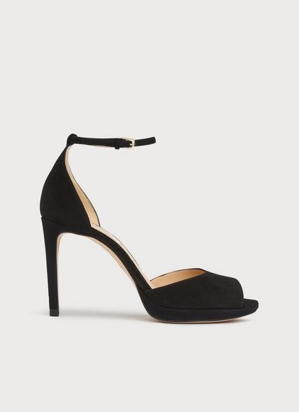 Joyce Black Suede Sandals