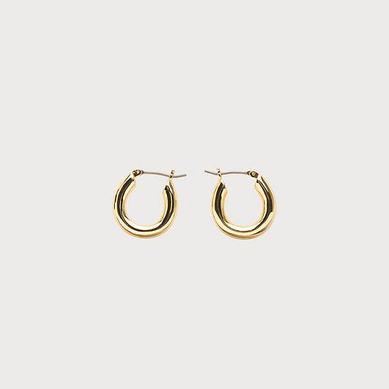 Cara Gold-Plated Mini Hoop Earrings