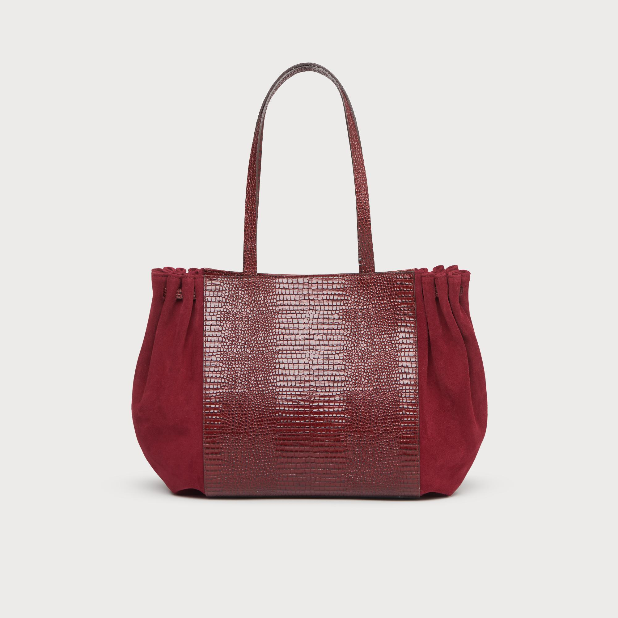 burgundy tote bags uk