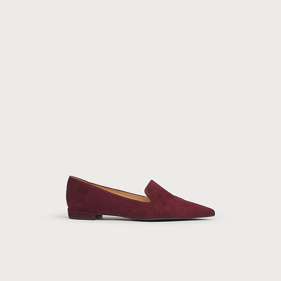 Arie Burgundy Suede Flats